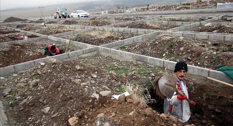 Bin kişilik mezar yeri açıldı