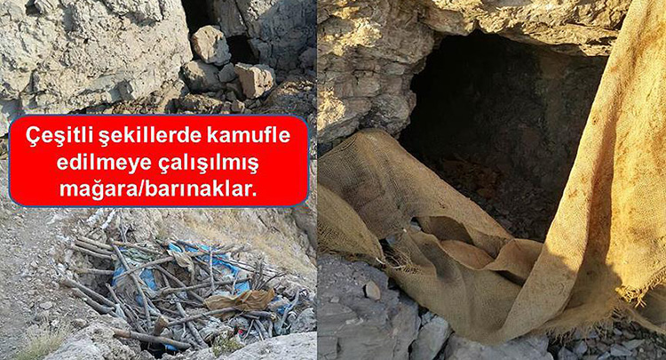 Şırnak'ta 4 mağara ve 2 tünel kullanılamaz hale getirildi