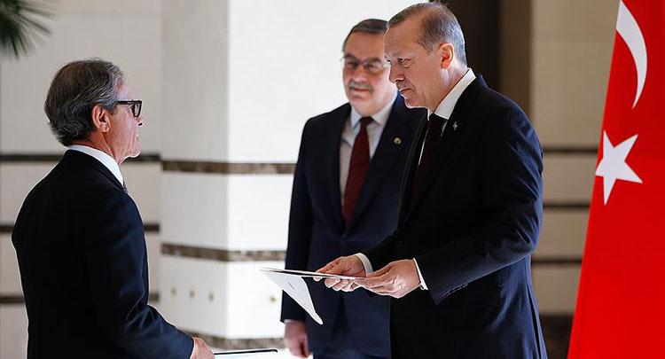 Cumhurbaşkanı Erdoğan, Brezilya'nın Ankara Büyükelçisi Neto'yu kabul etti