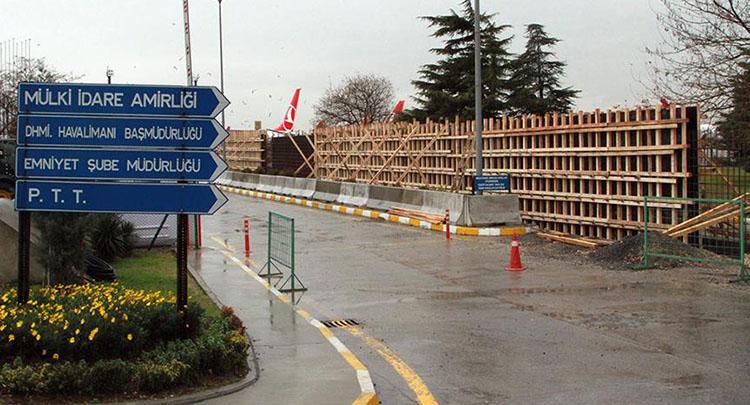 Atatürk Havalimanı Devlet Konukevi'ne koruyucu duvar