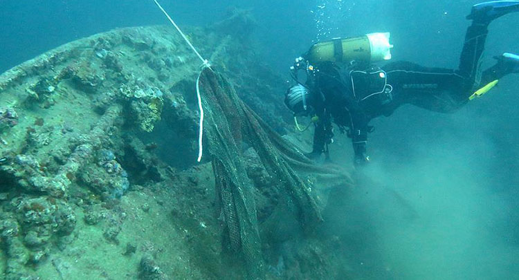 Çanakkale'nin adaları terk edilmiş ağlardan temizlendi