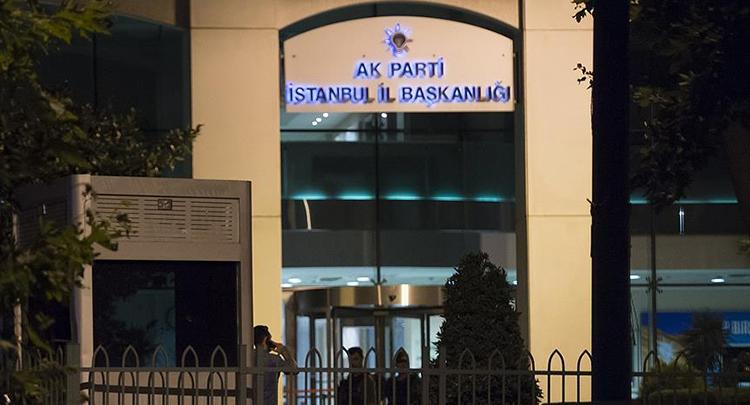 AK Parti İstanbul İl Başkanlığı'na saldırı