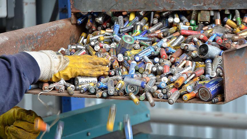 2016'da 720 ton atık pil toplandı