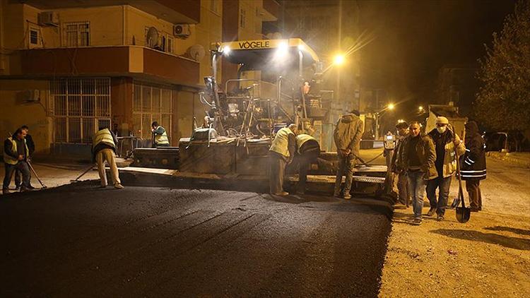 Silopi'de parke taşlı cadde ve sokaklar asfaltlandı