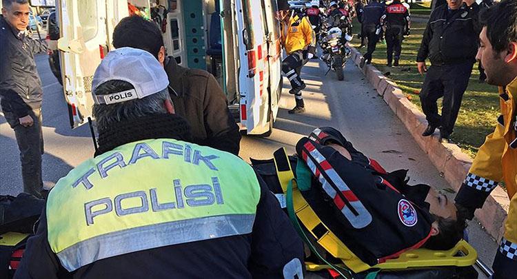 Adana'da polis ekibi kaza yaptı: 1 şehit, 1 yaralı