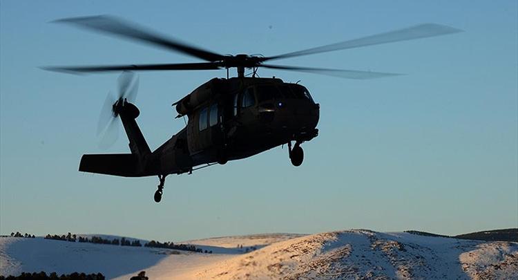 Tunceli'de polis helikopteri düştü