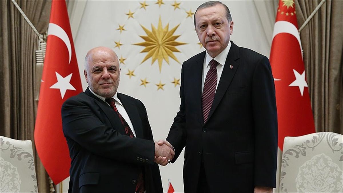 Erdoğan, Irak Başbakanı İbadi'yi kabul etti