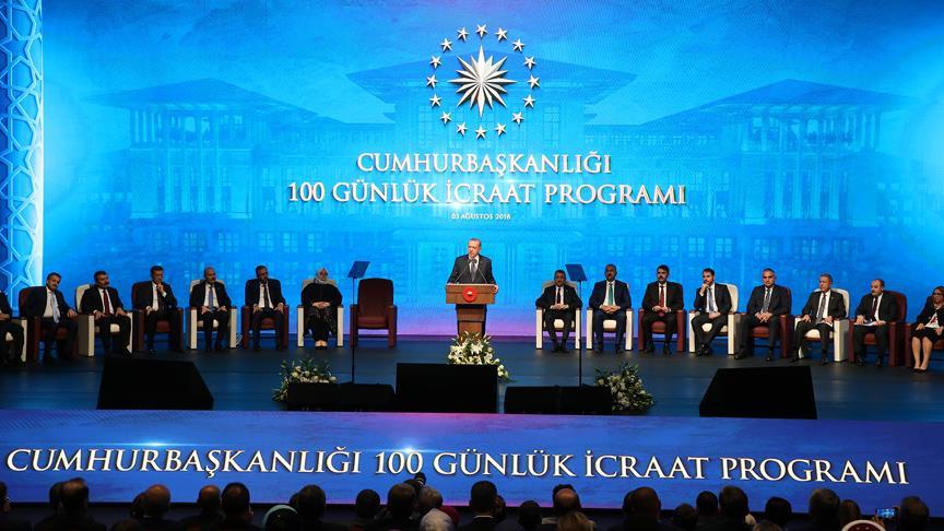 Cumhurbaşkanı Erdoğan '100 Günlük Eylem Planı'nı açıklıyor