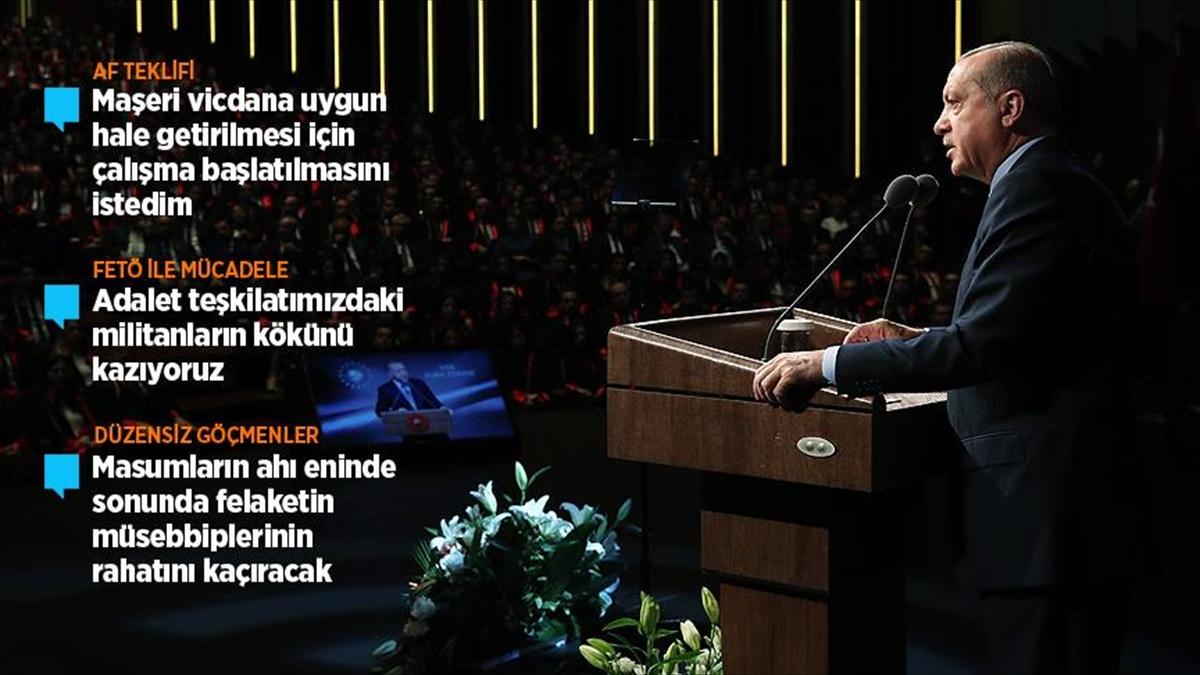 Cumhurbaşkanı Erdoğan'dan af tartışmalarıyla ilgili açıklama