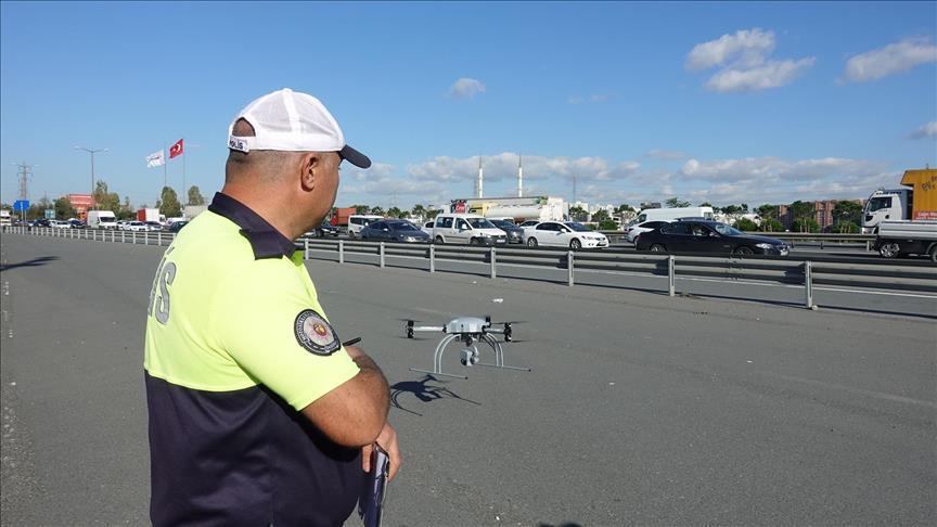 İstanbul'da drone ile trafik denetimleri