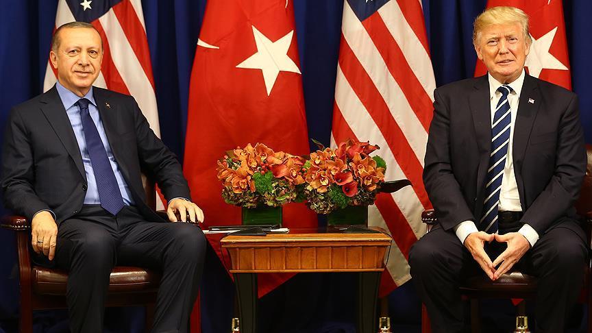Cumhurbaşkanı Erdoğan ile ABD Başkanı Trump görüştü