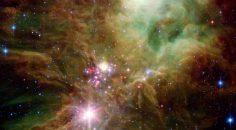 NASA'nın Spitzer Teleskobu Yılbaşı Ağacı Yıldız Kümesi'ni fotoğrafladı