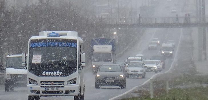 İstanbul'da bugün karla karışık yağmur bekleniyor