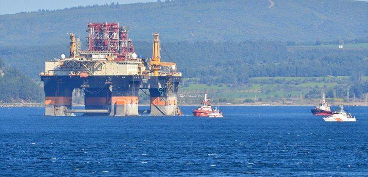 Dev petrol arama platformu 'Scarabeo 9' Çanakkale Boğazı'nda