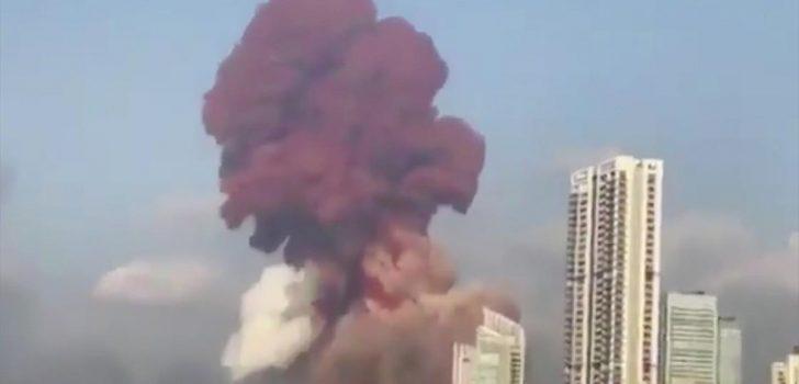 Lübnan'ın başkenti Beyrut'ta patlama