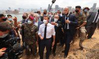 Macron Beyrut ziyaretinde 'sömürgeci söylem' kullanmakla eleştiriliyor