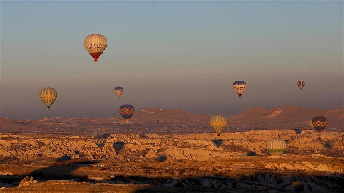 Kapadokya'yı 2020'de 120 bin 917 turist gökyüzünden izledi