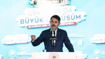 Bakan Kurum: İstanbul'un deprem dönüşümünü ilgilendiren 5 bin konutluk yeni bir etap daha başlatıyoruz