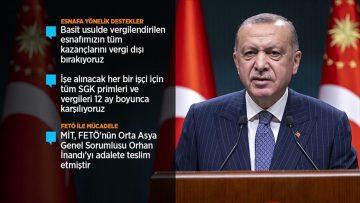 Cumhurbaşkanı Erdoğan: Emeklilerimizin aylıkları ile bayram ikramiyelerini Kurban Bayramı öncesinde ödeyeceğiz