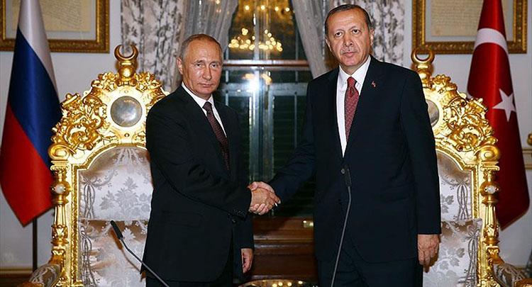 Cumhurbaşkanı Erdoğan, Putin ile Halep'i görüştü