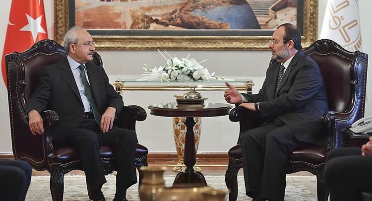 Kılıçdaroğlu, Diyanet İşleri Başkanı Görmez'i ziyaret etti