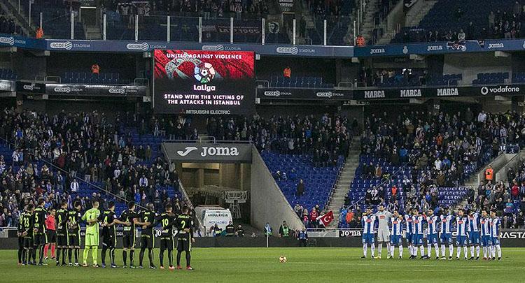 İspanyol futbolu İstanbul için saygı duruşunda