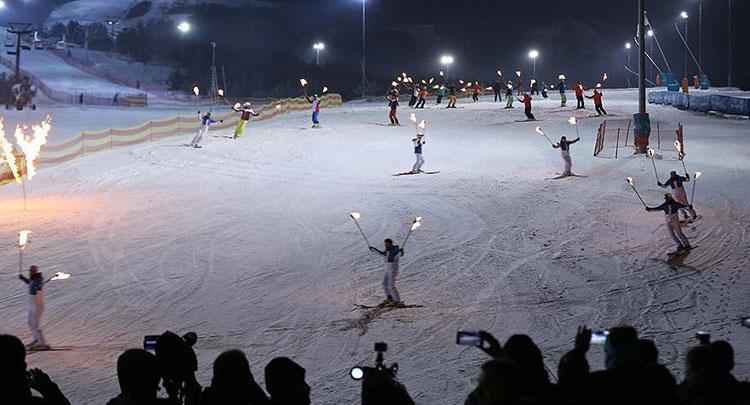 Palandöken'de kayak sezonu açılışı