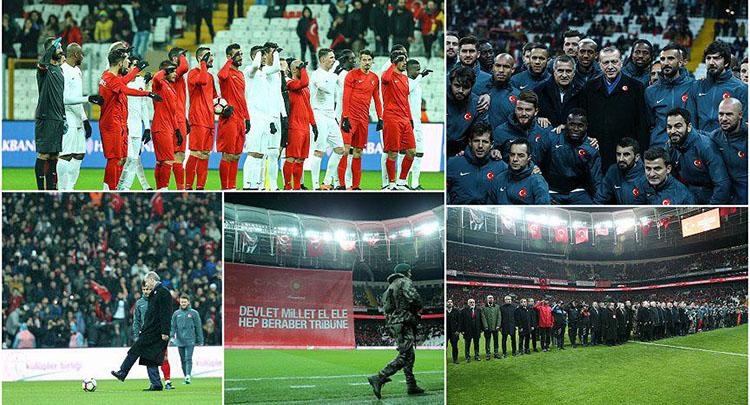 Futbolun yıldızları 'teröre karşı' tek yürek oldu