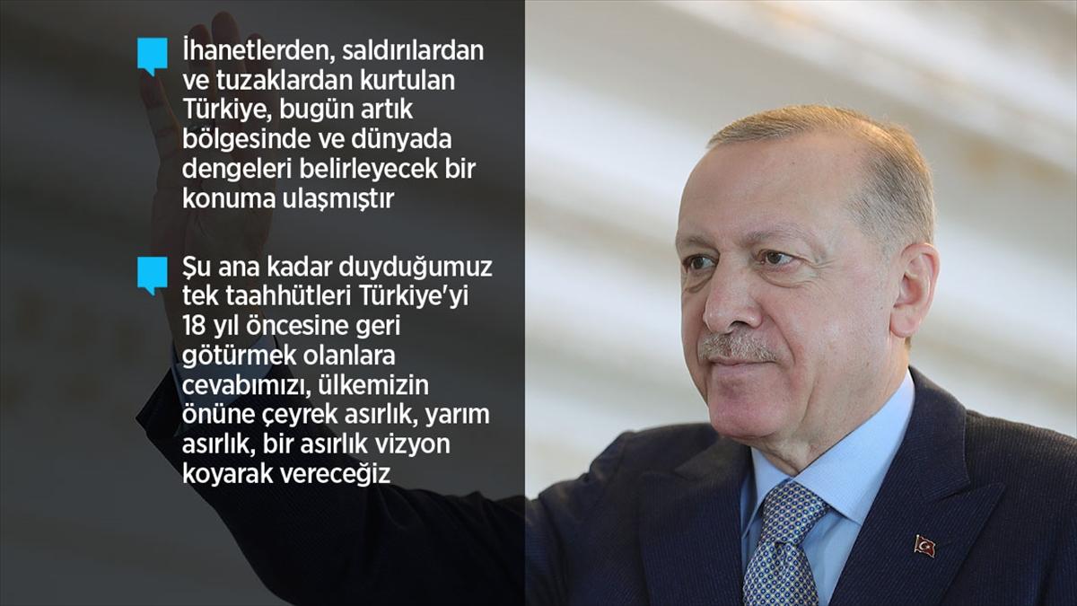 Cumhurbaşkanı Erdoğan: Reform adımlarıyla ilgili hazırlıklarımız kamuoyuna sunma aşamasına geldi
